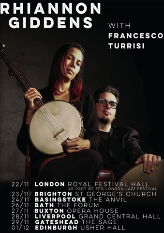 The Grand Central Hall presents Rhiannon Giddens with Francesco Turrisi.