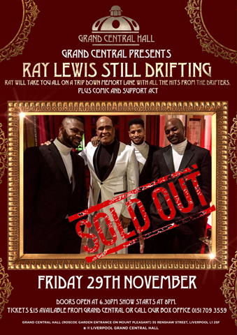 an evening with Ray Lewis from the Drifters